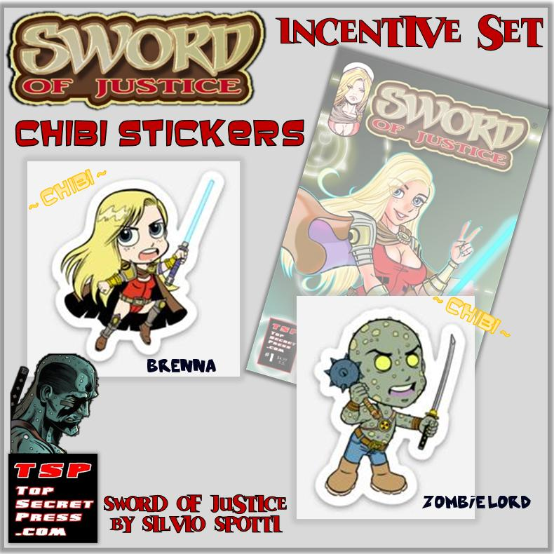 Sword of Justice Chibi Stickers Set of 2
