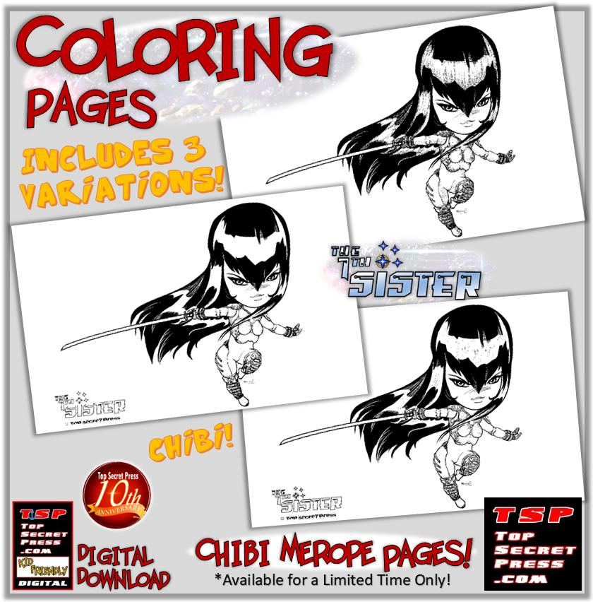 7th Sister Chibi Coloring Pages